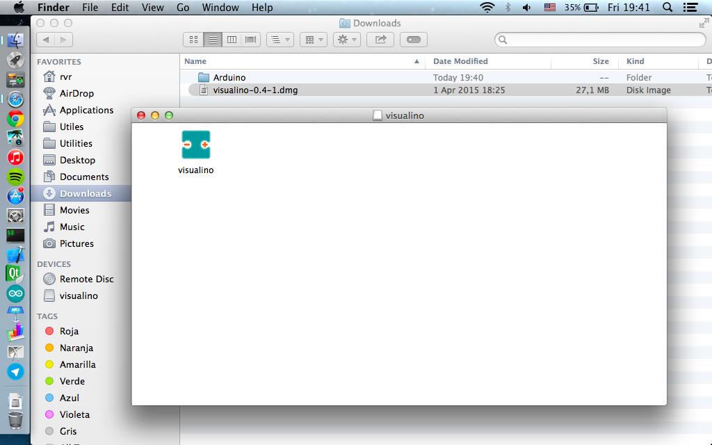 MacOS X - Visualino - Multiplatform visual programming